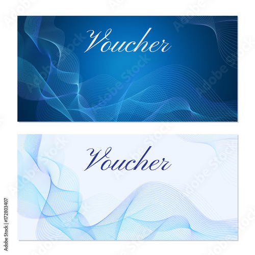 Voucher, Gift certificate, Coupon template Wallpaper Mural