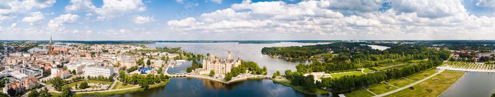 Fototapety, obrazy: Panorama Schweriner Schloss