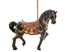 Old Classic Carousel Horse Iso...