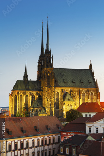 Fotografia  Old town of Brno as seen from the town hall tower.
