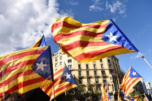 Plakat Manifestacja niepodległości w Barcelonie, SI, 11 września 2017 r