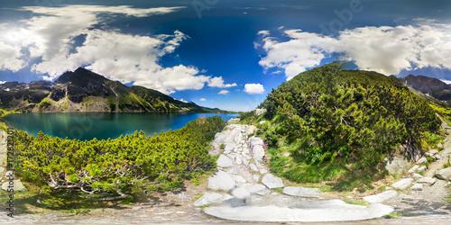 Fotografia  Mountain Trail in 360 VR Virtual Reality Panorama