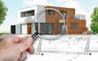 Leinwanddruck Bild - Audit et expertise sur maison d'architecte en construction