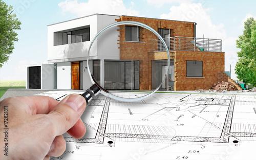 Fotografia, Obraz  Audit et expertise sur maison d'architecte en construction