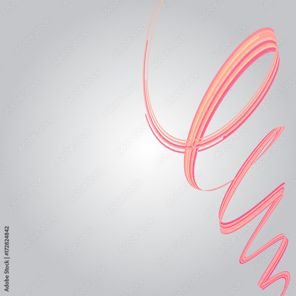 Abstract background. Colorful vector illustration with twisted swirles.  Flyer, brochure, annual report or website design.  Pink and yellow color.