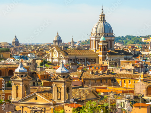 In de dag Mexico View of roofs and cityscape of Rome
