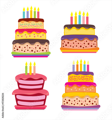 Happy Birthday Party Cupcake Cake Balloons Flowers