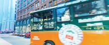 BOSTON - SEP 12: Boston Old Town Trolley Tours In Downtown On September 12, 2015 In Boston, Massachusetts, USA.