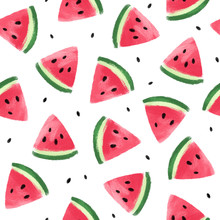 Seamless Pattern With Watermel...