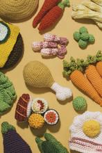 Composition Of Amigurumi Food