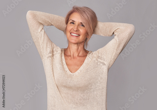 Fotografia  portrait of beautiful mature woman