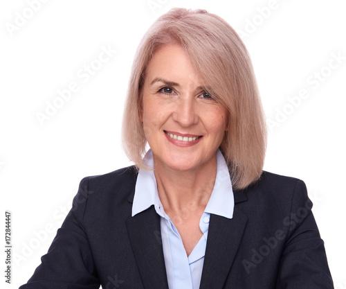 Plakat Portret Dojrzałej Kobiety Uśmiechnięty
