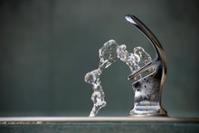 Drinking Water Flowing From A ...