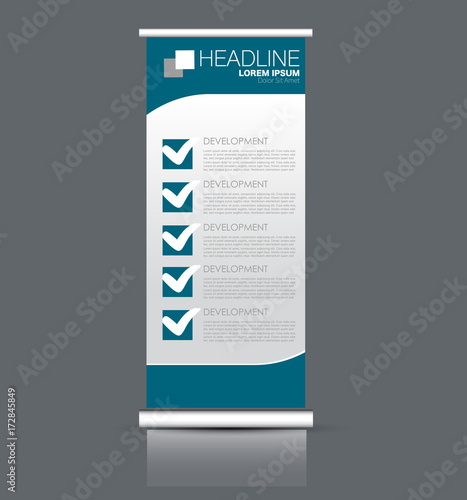 Rollup Vertical Banner Stand Template Abstract Background Concept For Business Education Presentation Advertisement Editable Vector Illustration Blue Color Buy This Stock Vector And Explore Similar Vectors At Adobe Stock Adobe Stock