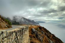 Seaside Drive Across An Old Stone Bridge