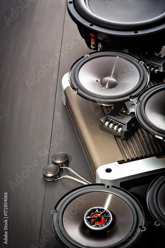 Fotografía  car audio, car speakers