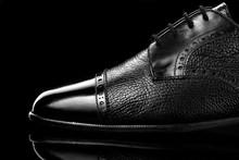 Black Oxford Polished Shoes On...
