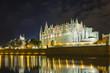 Cathedral of Palma de Mallorca at night