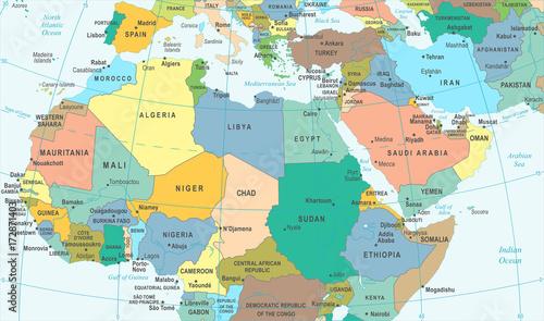 Fototapeta Egipt Hiszpania Geografia Mapa Fototapety Bestsellery