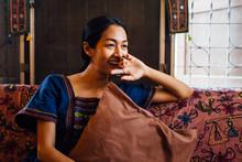 Beautiful Thai Woman In The Mi...