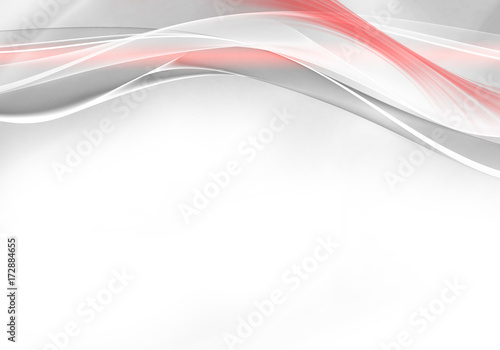 Fotobehang Fractal waves Abstract background - dynamic waves with space for your text