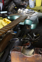 Guitar On Work Bench