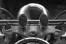 Close-up Of Motorcycle Handle ...
