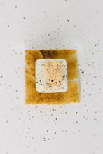Cubed Egg On Square Toast, Concept Shot For Something Different
