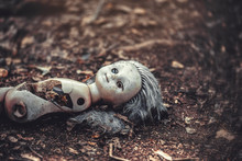A Broken Doll In An Abandoned ...