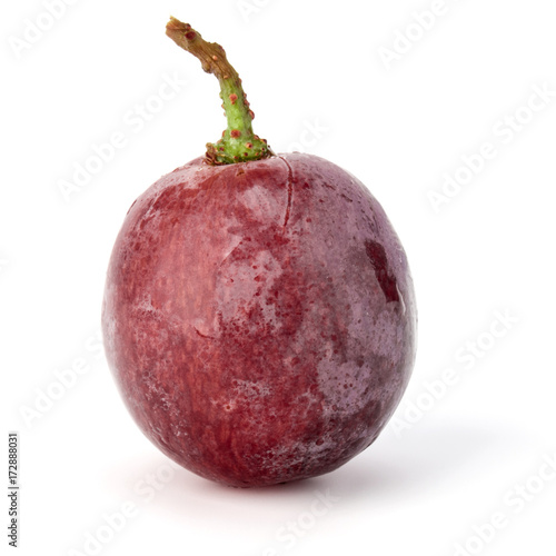 Pinturas sobre lienzo  Red grape berry  isolated on white background cutout
