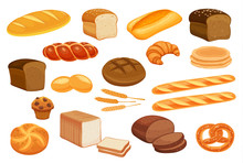 Set Vector Bread Icons.