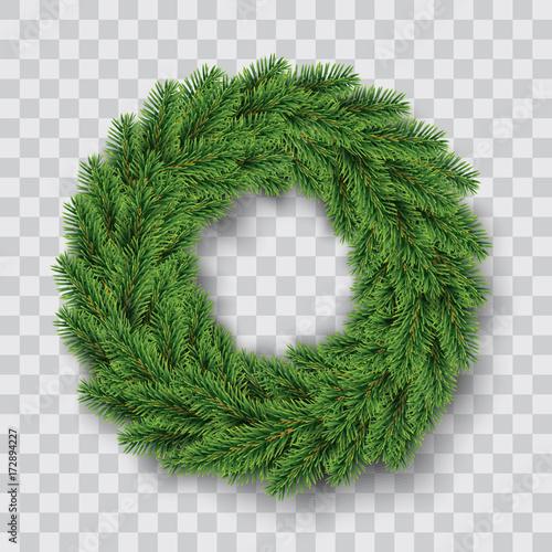 vector green christmas wreath Fototapet