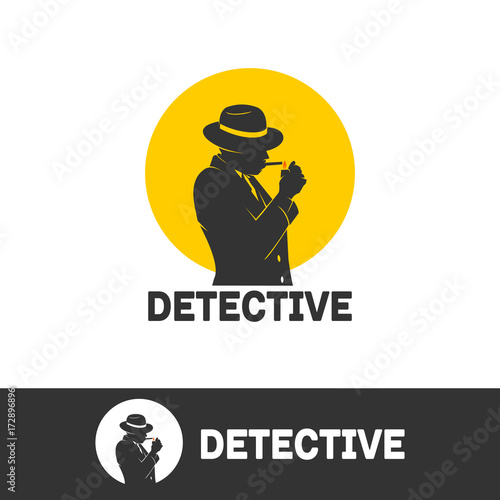 Foto  spy and detective, take a cigarette