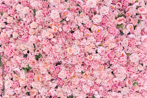 Beautiful Pink flowers background © tanatat
