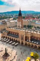 FototapetaPoland. The old street of Krakow. The center of the city. Summer. Blue Sky. Travel. Background.