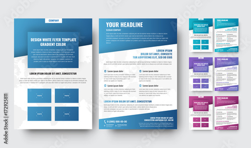 Fotografía  template of modern brochures with diagonal elements with a gradient