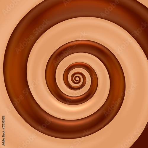 Zdjęcie XXL Czekoladowy mieszanka spirali koloru tło. Ilustracji wektorowych