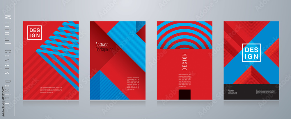 Red Blue And Black Abstract Background Minimal Covers