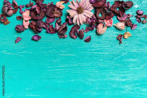 Papiers peints Retro blue wooden background