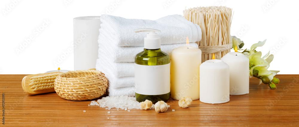 Composition of spa treatment - obrazy, fototapety, plakaty
