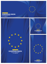 Abstract European Union Flag Background