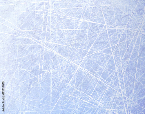 Textures blue ice. Ice rink. Winter background. Overhead view. Vector illustration nature background. © mari