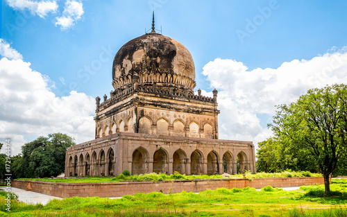 The ancient tomb of Qutb Shahi in Hyderabad - India Canvas Print