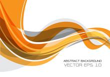 Abstract Orange Gray Wave On White Design Modern Futuristic Background Vector Illustration.