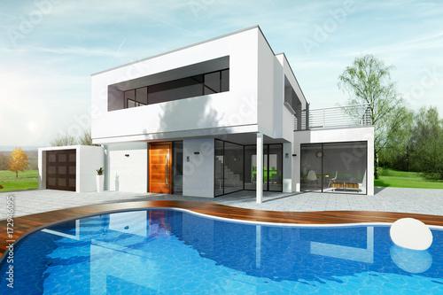 Maison moderne d\'architecte avec piscine – kaufen Sie diese ...