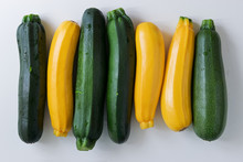 Yellow And Green Zucchinis In ...