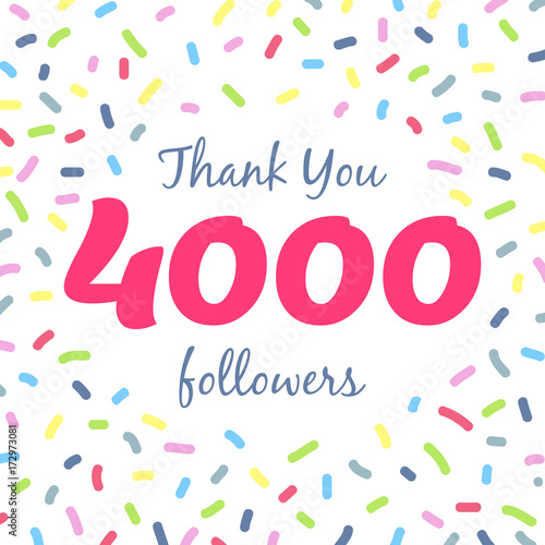 Obraz na plátně  Thank you 4000 followers network post