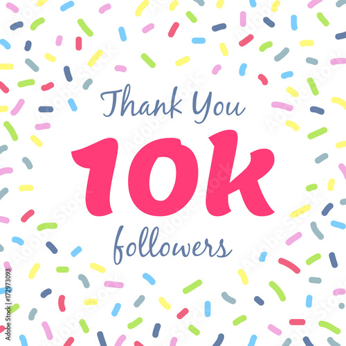 Fotografia, Obraz  Thank you 10k followers network post