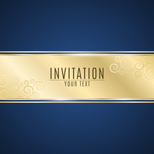 Luxurious Invitation. Golden R...