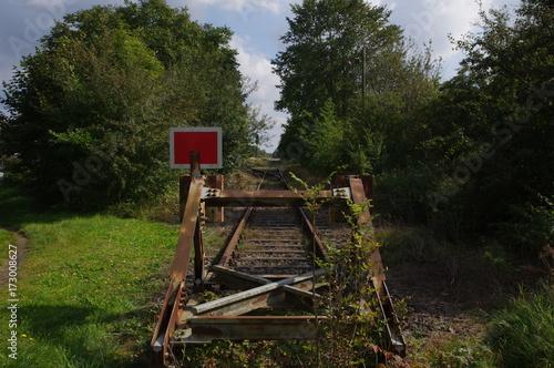 Prellbock an alter Kaiserbahn